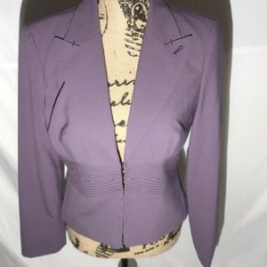 BeBe Violet Blazer 3 Hook Closure Size 8
